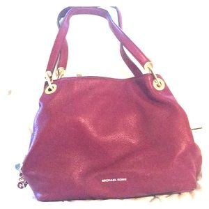 Michael Kors Red Purse with 3 separate inner.